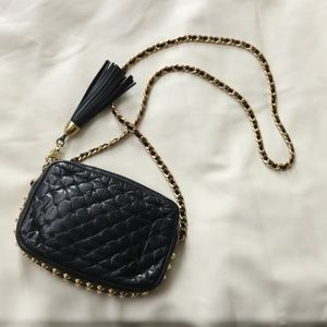 Rebecca Minkoff Black Leather Stud Bag Chain Strap